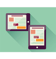 Flat icon tablet electronic device responsive vector