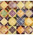 Grunge geometric yellow pattern vector