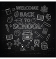 Chalk board welcome back to school vector