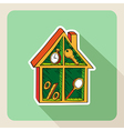 Vintage hand drawn real estate house business vector
