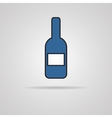 Bottle of wine icon with shadow vector