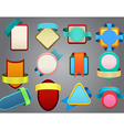Colorful badges on gray background vector