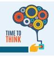 Time to think creative brain idea concept vector