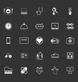 Quality life line icons on gray background vector