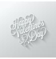 Valentines day vintage lettering cut paper vector