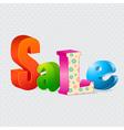 Colorful sale 3d letters vector