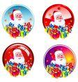 Santa stickers vector