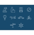 Travel and transport buttons set vector
