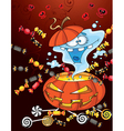 Ghost halloween card vector