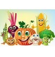 Company of vegetables vector
