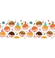 Kids at a birthday party horizontal seamless vector