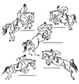 Jumping riders vector