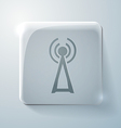 Tower of the wi fi glass square icon vector