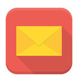 Envelope app icon with long shadow vector