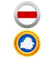 Button as a symbol belarus vector