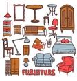 Home furniture set vector