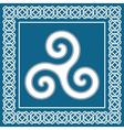 Ancient symbol triskeliontraditional celtic desig vector
