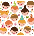 Kids at a birthday party seamless pattern vector