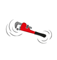 Pipe wrench vector