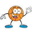 Cartoon basketball waving vector
