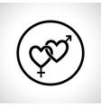 Couple gender icon vector