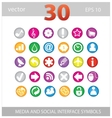 Web colored media and social sign set vector