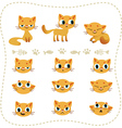 Set of cartoon cats vector