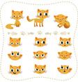 Set of cartoon cats vector