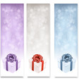 Holiday banners with colorful gift boxes vector