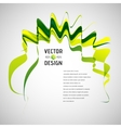 Abstract line background waving ribbon banner vector