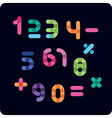 Color numbers against a dark background vector