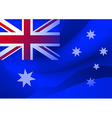 Abstract australian flag in the wind vector