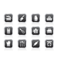 Kitchen and household utensil icons vector
