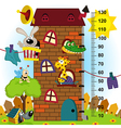 House height measure original proportions 1 to 4 vector