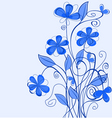 Abstract blue floral pattern for design as a backg vector