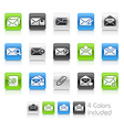 E mail icons clean series vector