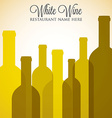 White wine list menu cover in format vector