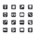 Man accessories icons and objects vector