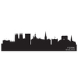 York england city skyline detailed silhouette vector