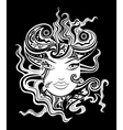 Black and white woman face vector