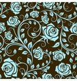 Antique scrolling rose seamless pattern vector