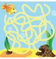 Puzzle for kids - marine life vector