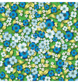 Abstract seamless blue spring floral ornament on vector