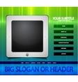 Tablet web page vector