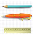 Pencil and pen vector