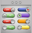 Color switch buttons vector