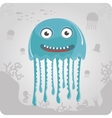 Cute cartoon jellyfish vector