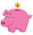Piggy bank cartoon vector