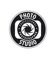 Round logo for studio photography vector