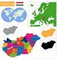 Hungary map vector